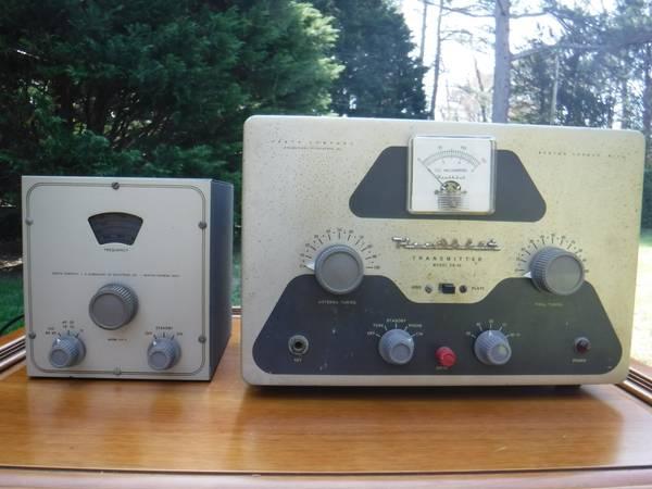 Photo Updated Heathkit DX-40 Ham Radio Transmitter and VF-1 VFO - $150 (VB)