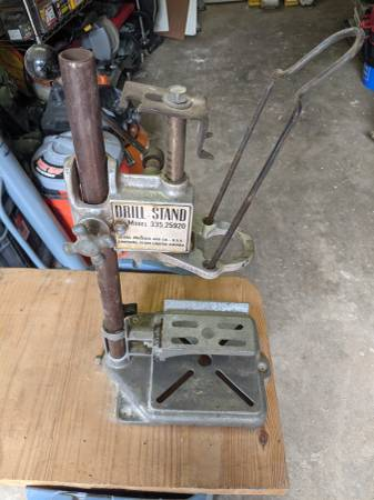 Photo VINTAGE Sears Craftsman Benchtop Portable Drill Press Stand Model 335. - $50 (Norfolk)