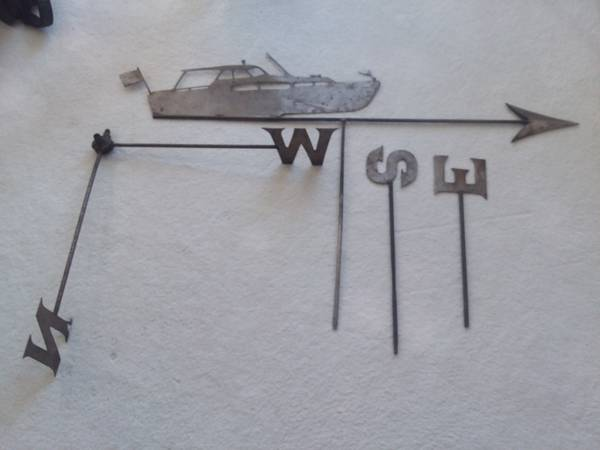 Photo Vintage Nautical Boat Collectible w Original Weathervane Directionals - $180 (Norfolk)