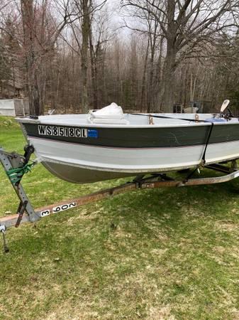 Photo 14 Foot Northwood Fishing Boat W 25hp Evinrude - $2,100 (Harshaw)