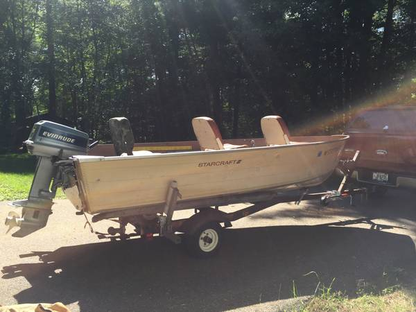 Photo 14 ft Starcraft boat - $1,800 (Minocqua)
