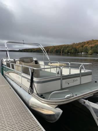Photo 1999 Fisher Pontoon Boat - $4,200 (Crandon)