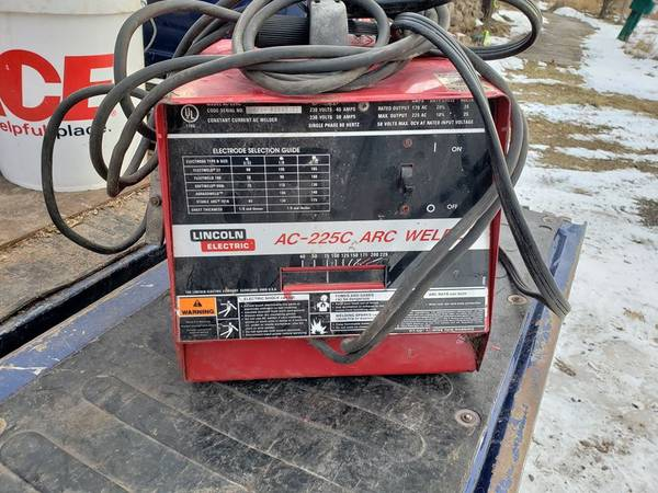 200 00 Lincoln Electric Ac 225c Stick Welder K1357 200 Tools For Sale Northern Wisconsin Wi Shoppok