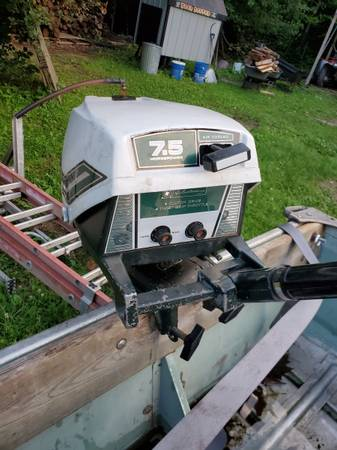 Photo 2 row boats with motors and trailers - $450 (Harshaw)