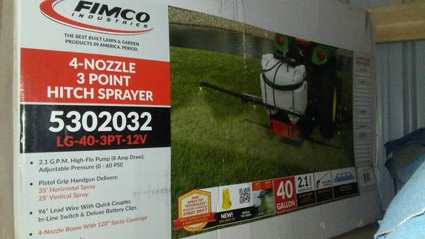 Photo 3 Point Fimco 40 Gallon Sprayer - $350
