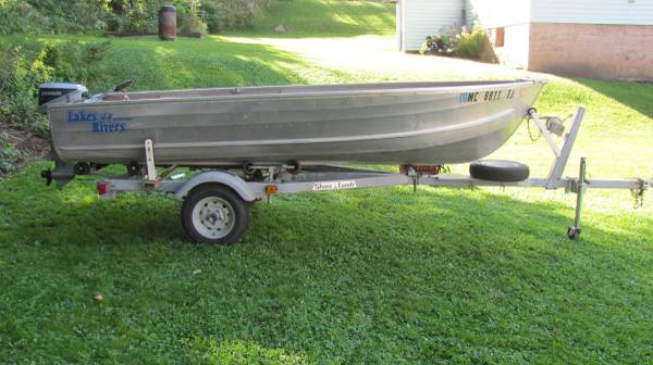 Photo Boat, motor, and trailer for sale - $1,250 (Ramsay)