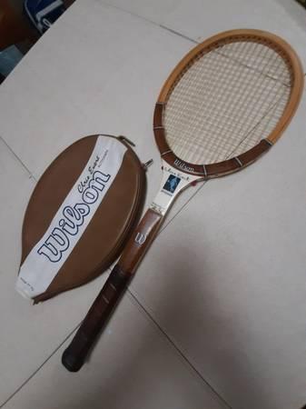 Photo Chris Evert Autograph Wood Tennis Racquet - $25 (Phelps)