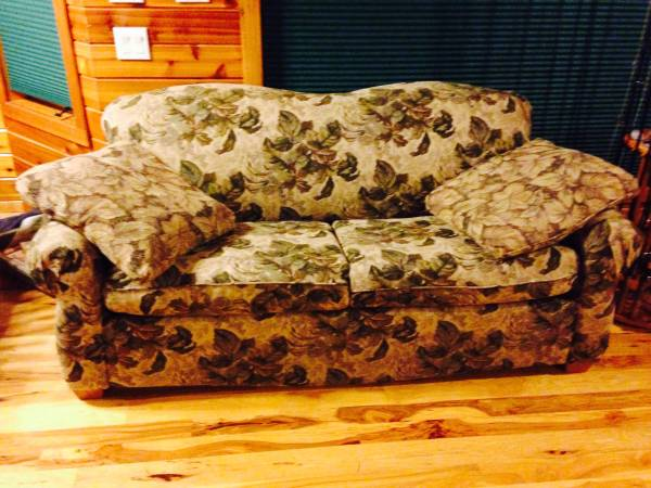 Photo Hide-a-Bed Couch - $125 (Pelican Lake)