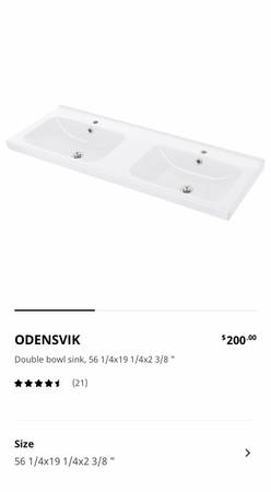 Photo IKEA double bowl sink - $200 (Drummond)