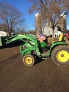 Photo John Deere 3320 loader bucket and mower deck - $20,500 (Star Prairie)
