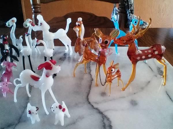 Photo MURANO glass ANIMAL figurines - $10 (stevens point)