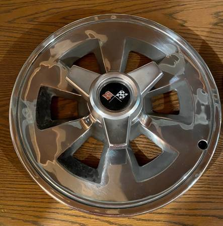 Photo Set of 77515 Goodyear Power Cushion Tires w Corvette Rims for 1965-66 - $1,200 (Schofield)