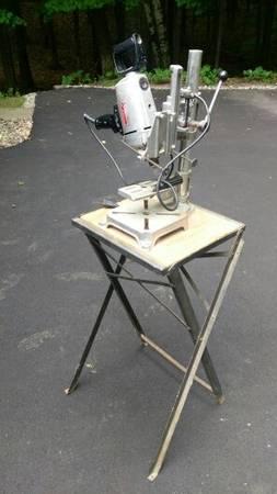 Photo Vintage Craftsman 12quot Drill, Drill Press  Foldind Table - $125 (Rhinelander)