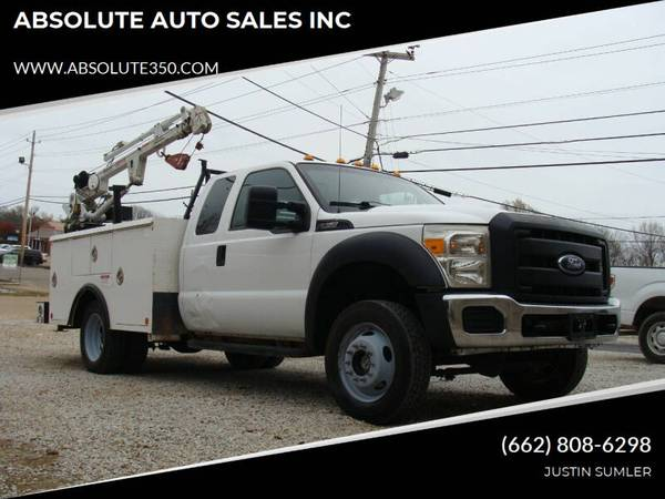 Photo 2013 FORD F450 EXT CAB DUALLY SEVICE WITH CRANE STOCK 775 - ABSOLUTE - $19,500 (CORINTH, MS)