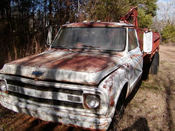 Photo A 1969 CHEVY 1 TON C30 WRECKER FOR PARTS OR SELL - $1