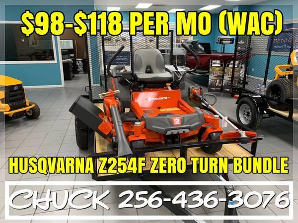 Photo HUSQVARNA Z254f ZERO TURN LAWN MOWER BUNDLE FINANCING AVAILABLE - $4,399 (TUSCUMBIA)