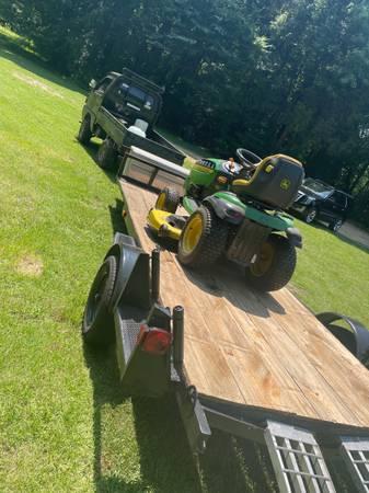 Photo John Deere, Mower, utility trailer - $1,800 (Batesville, Ms)