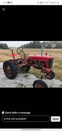 Photo Looking for none running farmall cub tractors - $1 (Walnut)