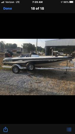 Photo Nitro fishing boat - $8,000 (Hamilton ms)