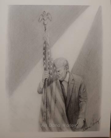 Photo quotThe Anguish of an American Presidentquot drawing print - $25 (Jacks Creek)