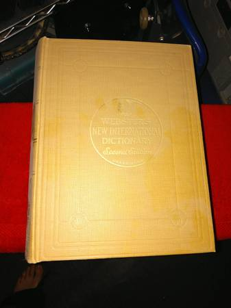 Photo 1953 Webster39s New International Dictionary. Second Edition. - $25 (Greeley)