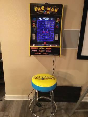 Photo Arcade 1up multicade 8 games in 1 plus stool. New. - $425 (Loveland)