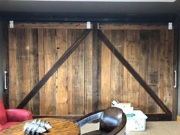 Photo Custom Reclaimed Wood and Railcar parts sliding barn doors - $9,000 (Berthoud)