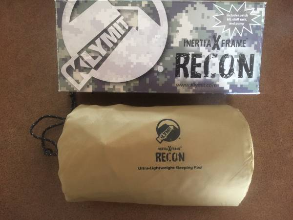 Photo KLYMIT inertia X frame RECON ultra lightweight Sleeping Backpacking pad NEW w p - $85 (Fort Collins)