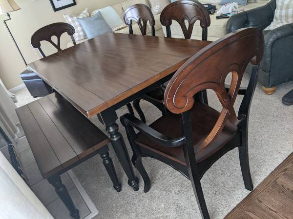 Photo Pier 1 Table, Chairs and Bench - $300 (Fort Collins)