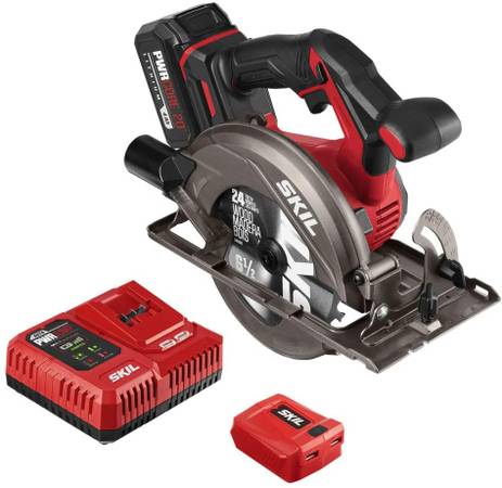 Photo Skil cordless circ saw kit and extra 5.0 Ah battery. Like new in box. - $199 (SW Longmont)