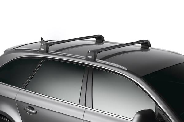 Photo Thule Roof Rack for Fixed-Point Mounts - AeroBlade Edge, LocksKeys - $250 (Fort Collins)