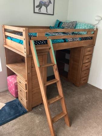 Photo Wood loft twin bed - $400 (Fort Collins)