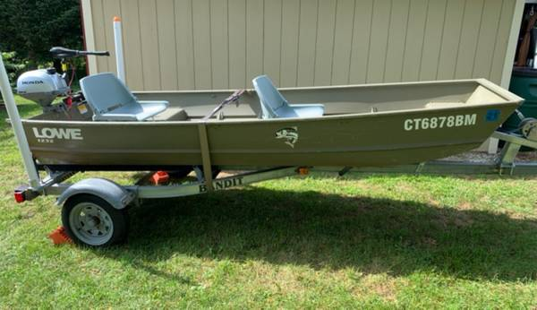 Photo 12ft Jon Boat, motors  trailer - $2,500 (Goshen)