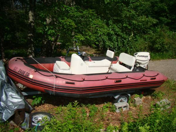 Photo 15-Foot Defender Zodiac Inflatable Boat - $3,950 (Cornwall Bridge)