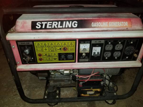 Photo 6500 watt gas generator with electric start - $300 (Barkhamsted)