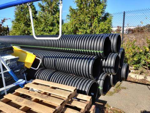 Photo Corrugated Pipes ADS, 2039X18quotID, HDPE, Dual Wall, 12 off  (New Milford)