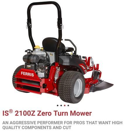 Photo Ferris Zero Turn Mower IS2100Z - $10500 (Torrington)