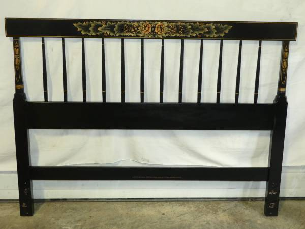 Photo HITCHCOCK FURNITURE BLACK FULL SIZE FARMINGTON HEADBOARD - $125 (Bethlehem)