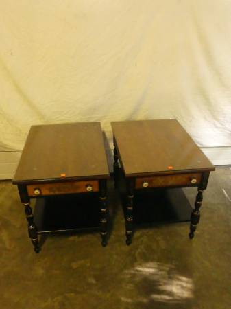 Photo HITCHCOCK FURNITURE BLACK HARVEST RESTFUL END TABLES - $400 (Bethlehem)
