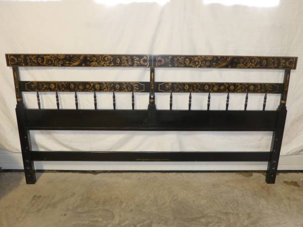 Photo HITCHCOCK FURNITURE KING SIZE BLACK LITCHFIELD HEADBOARD - $300 (Bethlehem)