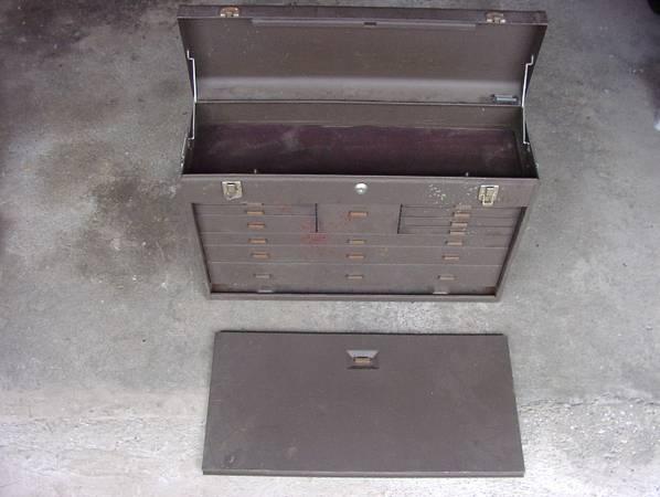Photo Kennedy 11 Drawer Machinist Tool Box  Tote Tray Box  BONUS Tote - $140 (Torrington)