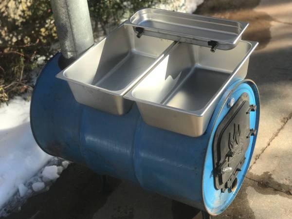 Photo Maple Syrup Evaporator DIY kit barrel woodstove stainless pans (Hartford)