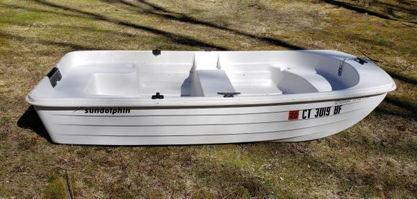Photo Sun Dolphin Water Tender 9.4, trailer, and 5HP outboard - $775 (Newtown, CT)