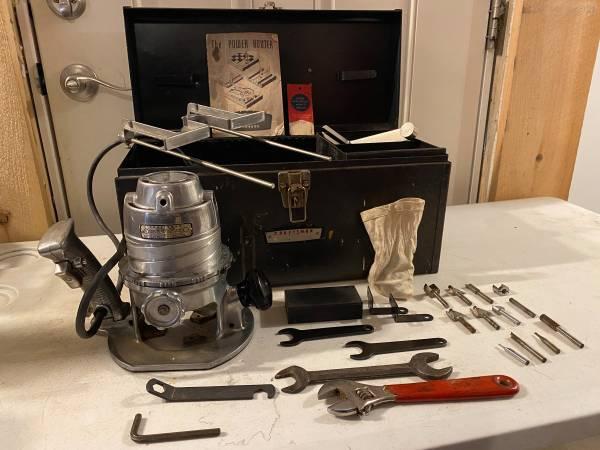Photo Vintage Craftsman 315.25031 1HP 24,000-RPM 6.A 14quot Router wBits  - $60 (Hudson)