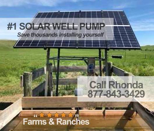 Photo Full Set Pump well water with solar-No more windmill repairs - $30,305 (northwest)