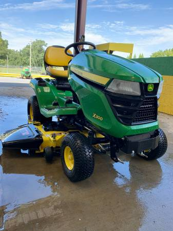Photo John Deere X300 Riding Lawn Mower Tractor 48quot Used - $1,950 (Rome)