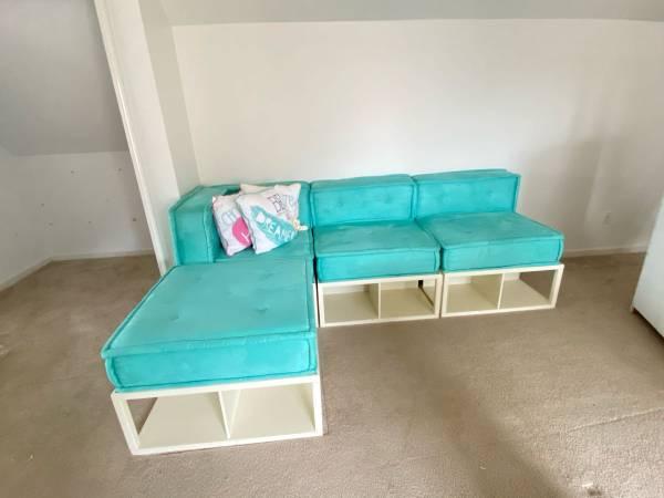 Photo Pottery Barn Teen Cushy Lounge Sectional Set - $800 (Kennesaw)