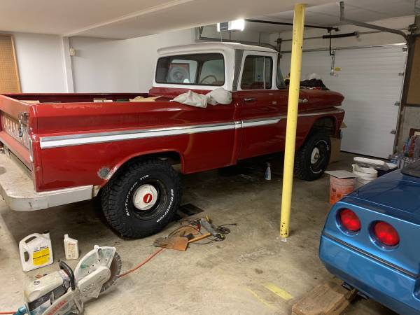 Photo 1962 Chevy factory shortbed 4x4 - $13,500 (Topeka)