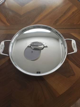 Photo All Clad d5 Stainless-Steel All-In-One Pan 6Qt - $140