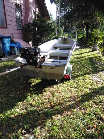 Photo 1239john Boat-mud motor trailer - $1,100 (DE Leon Spgs)